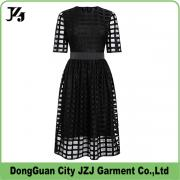 J0002 JZJ custom OEM women fashion black long dress