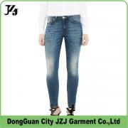 J0006 JZJ OEM custom fabtory spandex denim long pants wash effect