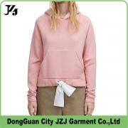 J0007 JZJ OEM custom factory women pink winter hoody sweater cotton 2017 new style