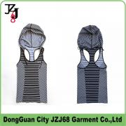 J00340 JZJ OEM custom sport tops women hoodie sleeveless
