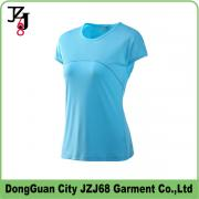 J00345 JZJ68 OEM CUSTOM FACTORY WOMEN QUICK DRY TOPS SHORT SLEEVE